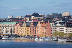 水的,斯德哥尔摩,瑞典城市 图库摄影