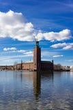 水的,斯德哥尔摩,瑞典城市 库存图片