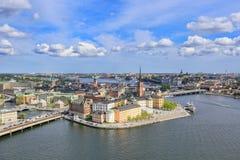 水的,斯德哥尔摩,瑞典城市 库存照片