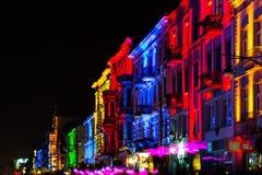 轻的移动节日在罗兹,波兰 免版税库存图片