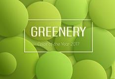 年的绿叶2017颜色 库存照片
