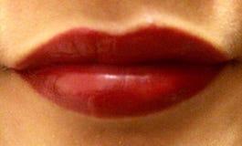 读的嘴唇我 库存图片