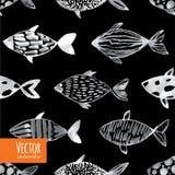 轻的水彩鱼 免版税库存照片