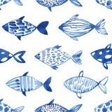 轻的水彩鱼 免版税库存图片