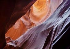 轻的轴或射线羚羊峡谷亚利桑那 免版税库存照片