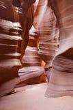 轻的轴或射线羚羊峡谷亚利桑那 图库摄影