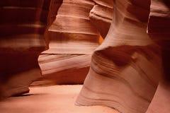 轻的轴或射线羚羊峡谷亚利桑那 库存照片