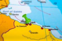 的黎波里利比亚地图 库存图片