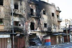 的黎波里黎巴嫩冲突 库存照片