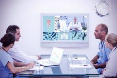 的医生队的综合图象开会议 库存图片