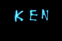 轻的绘的肯名字 图库摄影