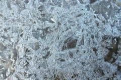 冻结的水纹理 免版税库存图片
