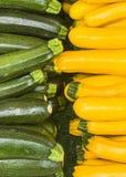 夏南瓜黄色和绿色 库存照片