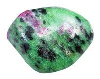 翻滚的绿色zoisite石头 库存照片