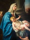 绘画的细节在大教堂的天花板的 库存图片