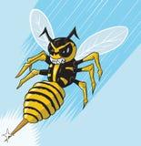 攻击的黄蜂 库存图片