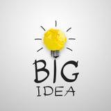 轻的bub大想法概念 免版税库存照片
