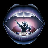 嘴的DJ 图库摄影