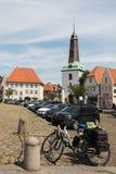 的glueckstadt 1月2013年, germnay,老历史的教会 免版税库存图片