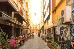 的Kadikoy普遍的街道看法人们喜爱走和参观 免版税库存照片