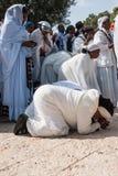 的Sigd -埃赛俄比亚的犹太人Holyday 免版税库存图片