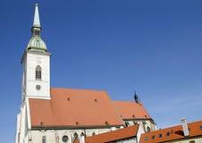 St Martins大教堂,布拉索夫,斯洛伐克 库存照片
