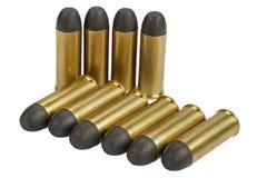 的treadled 约会到1873的45个口径左轮手枪弹药筒 免版税图库摄影