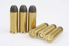 的treadled 约会到1873的45个口径左轮手枪弹药筒 库存图片