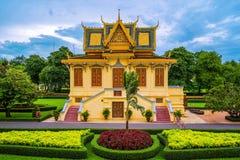 皇宫在金边,柬埔寨 免版税库存图片