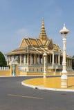 皇宫在金边,柬埔寨 库存图片