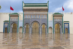 皇宫在Fes, Marocco 免版税库存照片