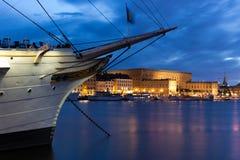 皇宫的视图 斯德哥尔摩 瑞典 免版税库存照片