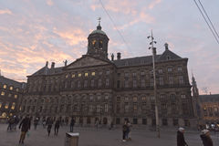 皇宫阿姆斯特丹 免版税库存图片