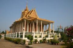 皇宫,金边,柬埔寨 免版税图库摄影