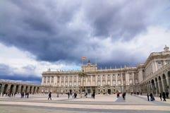 皇宫,马德里,西班牙 免版税库存照片