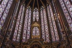 皇家中世纪哥特式教堂在巴黎 库存图片