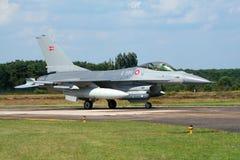 皇家丹麦空军队F-16战斗机航空器 库存图片