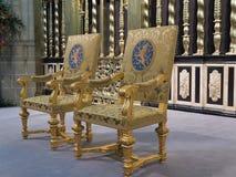 皇家位子如使用在新的国王的就职典礼时 免版税库存照片
