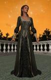 皇家公主Black Dress Starry Skies 库存图片