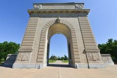 皇家军事学院纪念曲拱,金斯敦,安大略 免版税库存照片
