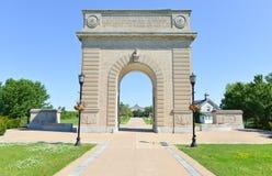 皇家军事学院纪念曲拱,金斯敦,安大略 库存图片