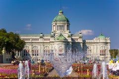 皇家冬天节日,联合国Ai Rak Khlai Khwam Nao,皇家广场、Dusit宫殿和萨娜姆Suea Pa的,曼谷,泰国March3,2018的:乌山头水库 免版税图库摄影