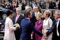 皇家到达丹麦议会开头 库存照片