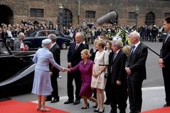 皇家到达丹麦议会开头 图库摄影