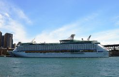 皇家加勒比巡航船  免版税库存图片