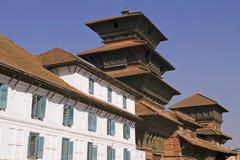 皇家加德满都的宫殿 免版税图库摄影