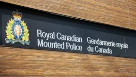 皇家加拿大被挂接的警察 库存照片