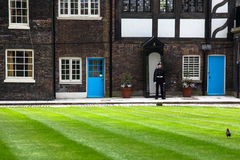 皇家卫兵。 伦敦塔。 免版税库存照片