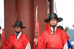 皇家卫兵的游行 免版税图库摄影