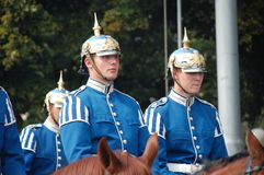 皇家卫兵,斯德哥尔摩 库存照片